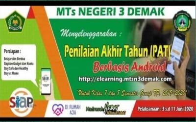 Penilaian Akhir Tahun (PAT) Daring di MTs Negeri 3 Demak Tahun Pelajaran 2019/2020